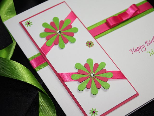 Tahiti - Handmade Birthday Card